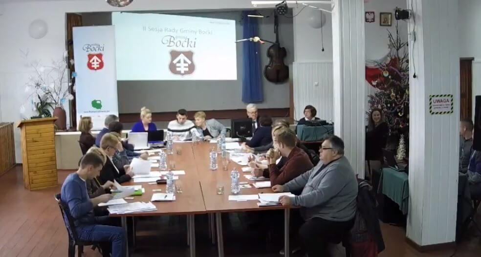 Sesja rady gminy Boćki
